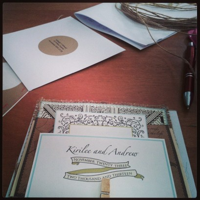 Beautiful Invitations by our lovely friend behind Loganberry Hunters